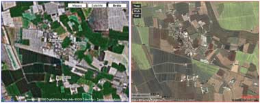 Google maps vs Yahoo Maps