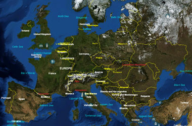 Cartina Europa Satellite.Nasa World Wind La Terra Vista Dal Satellite Dynamick