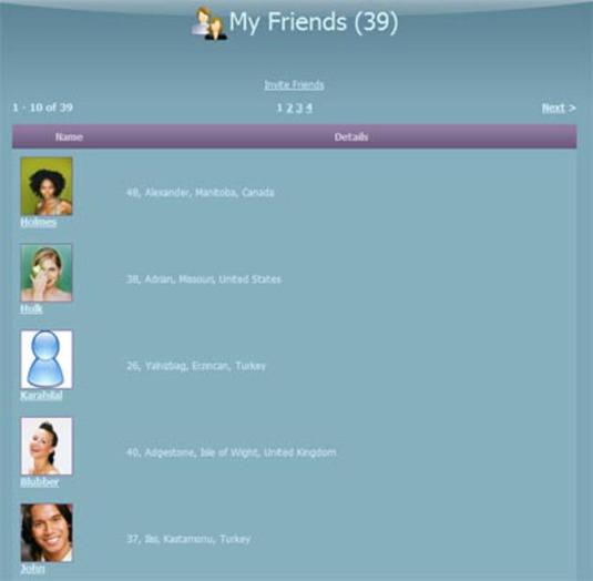 Amici nelle reti sociali