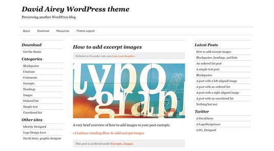 Airey tema per wordpress