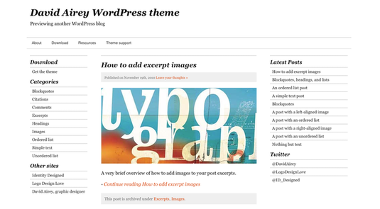 Airey tema per wordpress