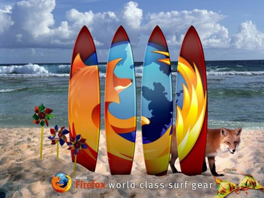 Surfing with firefox
