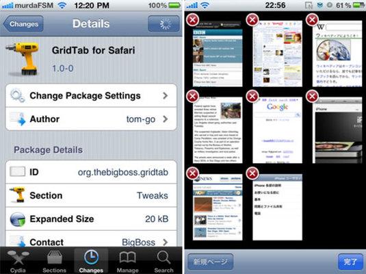 Safari GridTab