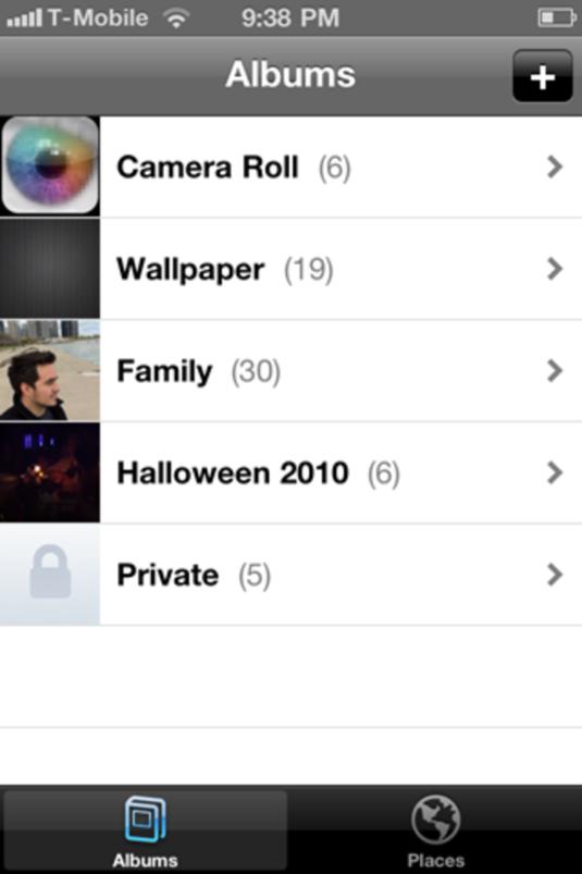 Photoalbums+ iphone