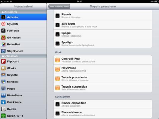 Activator iPad2