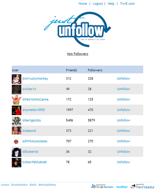 just-unfollow