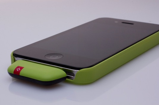 Zapper Phone schräg Green