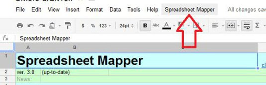 spreadsheet-mapper-menu