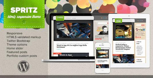 Spritz, HTML5 responsive wordpress theme