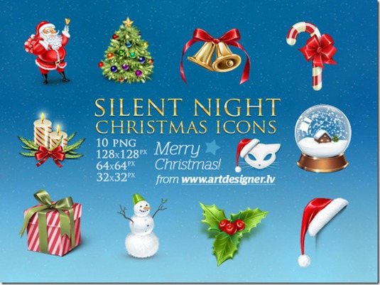 Silent_Night_Christmas_icons_by_LazyCrazy