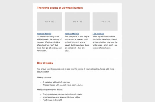 template html per email