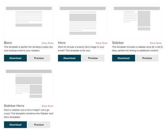 4 template già pronti per email html responsive