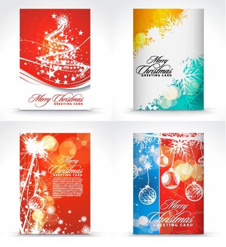 4 cartoline di natale