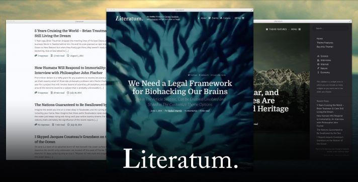 literatum - medium style wordpress theme