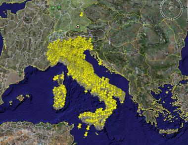B&B italiani su Google earth
