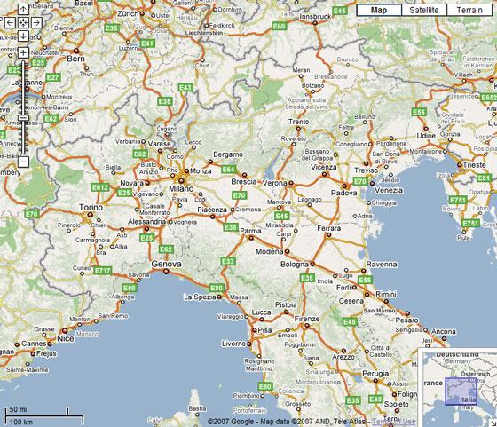 Cartina Italia Settentrionale Dettagliata.Google Maps Scaricare Mappa Italia Bigwhitecloudrecs