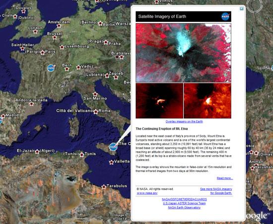 l'eruzione del vesuvio dal satellite