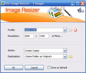 Image resizer- finestra principale