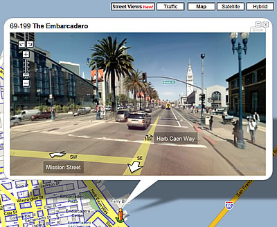 Street view on Google Maps