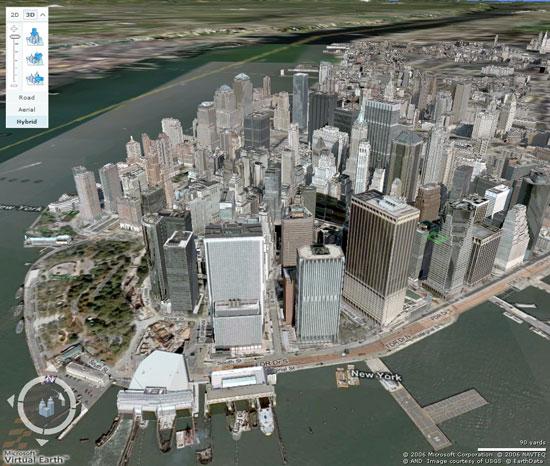 New York in 3D su Virtual Earth 3D