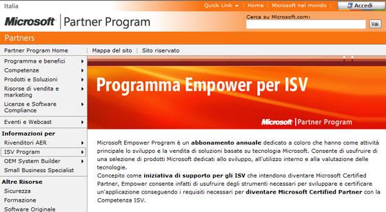 Programma Empower per ISV