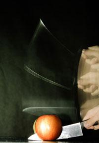 slow sync - taglio di una mela