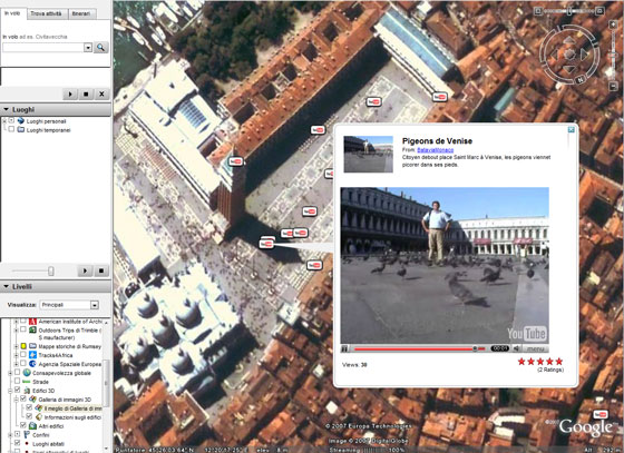 YouTube e Google Earth: un video di Venezia