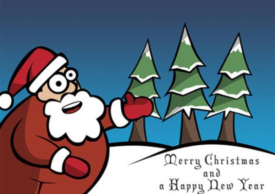 Santa Claus Christmas Card Photoshop Tutorial