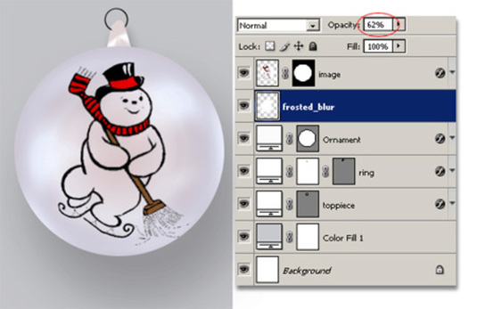 Christmas Tree Ornament Photoshop Tutorial