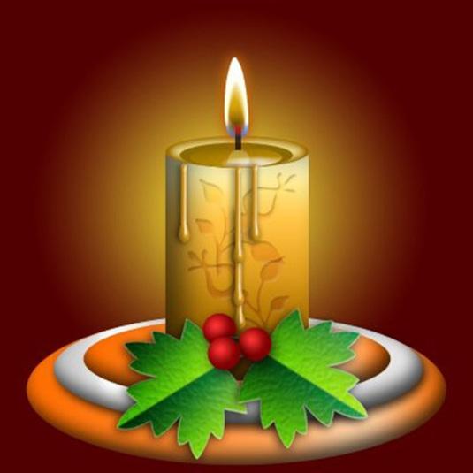 Christmas Candle Photoshop Tutorial
