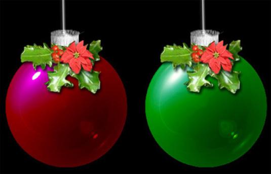 Christmas Glass Ornaments Photoshop Tutorial