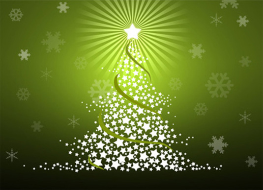 Stylized Christmas Tree Photoshop Tutorial