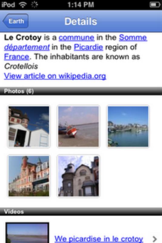 dettaglio luoghi google earth iphone