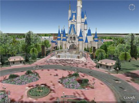 Disney World su Google Earth