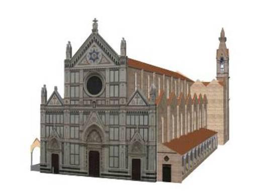 Santa Croce Firenze 3D