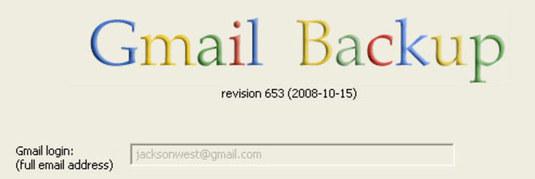 backup di gmail