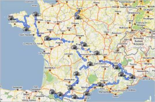 Google Maps Tour De France Live