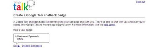 google talk: come inserirlo nel proprio sito