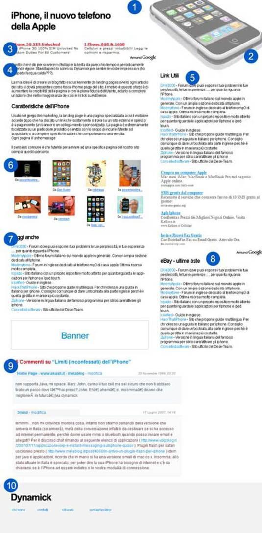 Landing pages - esempio
