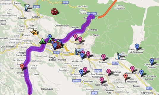 mappa terremoto aquila abruzzo