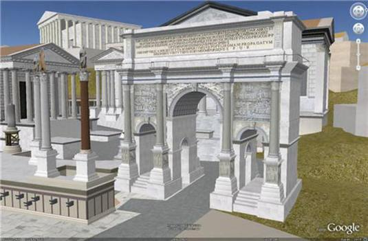 L'antica Roma: un modello 3D su Google Earth