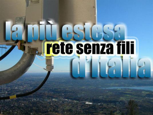 La più estesa rete senza fili d'italia