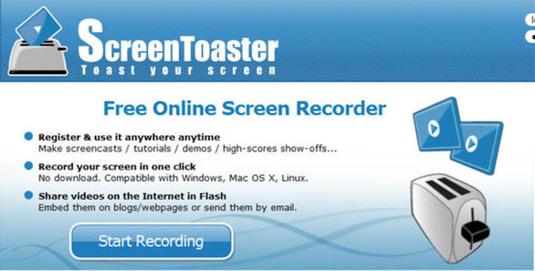 Screencast, un'applicazione web