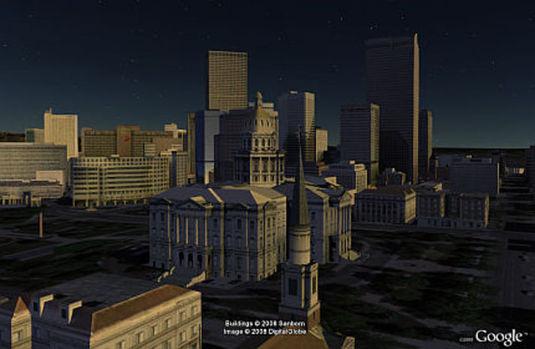 Il tramonto su Google Earth