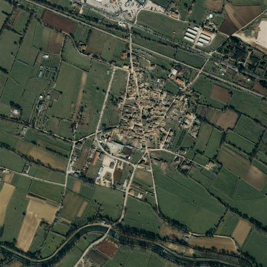 Terremoto aquila, foto dal satellite