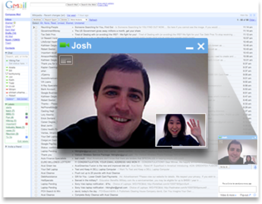 videochat in gmail